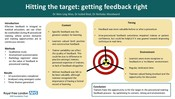 Hitting the target: getting feedback right