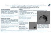 Uterine artery embolisation hor haemorrhage secondary to gestational trophoblastic disease
