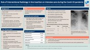 Role of Interventional Radiology in line insertion on intensive care during the Covid-19 pandemic